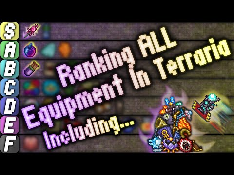 Ranking EVERY Accessory, Armor, And MORE In Terraria!