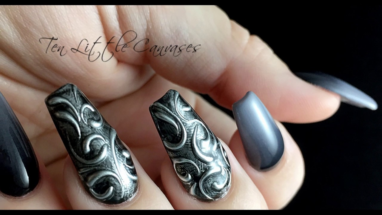 Heavy Metal Nail Art - Heavy Metal Nail Art - YouTube