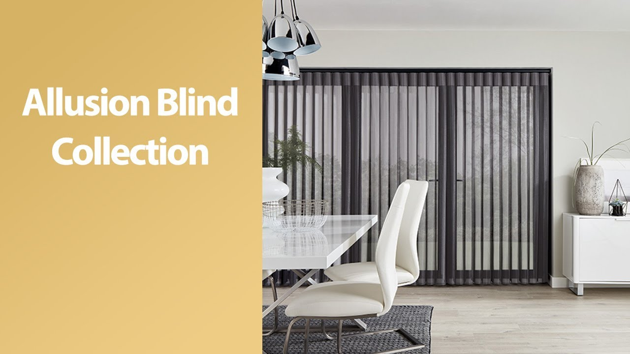 Stunning Allusion blinds for large windows & patio doors - YouTube