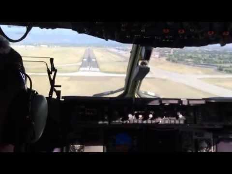 Boeing C-17 Globemaster Landing at Peterson AFB - Team Dover's Honorary Commander Program