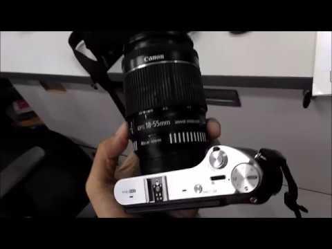 Samsung NX300 + EOS-NX adaptor + 18-55mm lenskit Canon