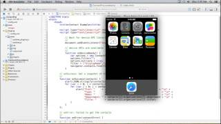 Free Phonegap Tutorial for iOS & Android Tutorial 22 - Get Organization Details of all Contacts