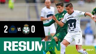 embeded bvideo Resumen | Pumas UNAM 2 - 0 Santos Laguna | Liga MX - Apertura 2019  - Jornada 12