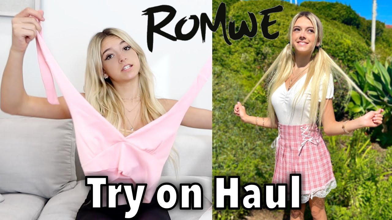 ROMWE Try On Haul  🎒Back to School   Coco Quinn