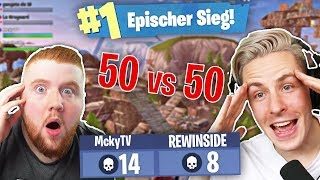 Totale ESKALATION mit der ROTEN LEGENDE MCKYTV im 50 VS 50 FORTNITE MODUS!