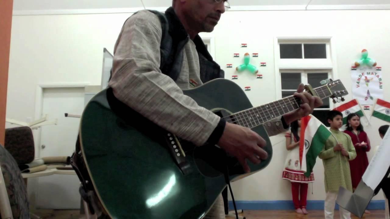 Vande Mataram Live Recording With Guitar Chords Youtube