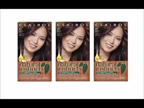 Clairol Natural Instincts Hair Color 4rv Egyptian Plum Burgundy Brown 1 Kit You