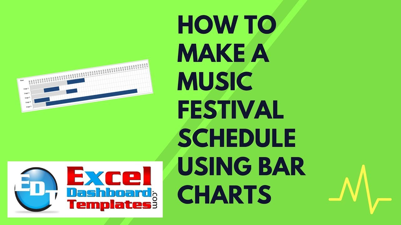 How to Make a Music Festival Schedule Using Excel Bar Charts - YouTube