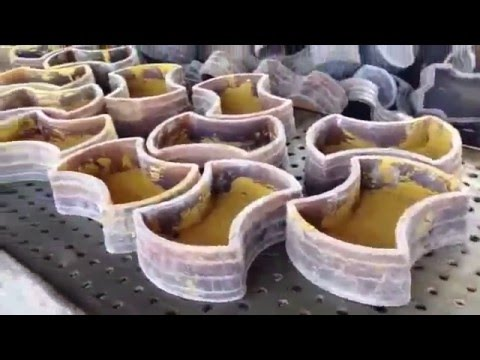 Rubber Mold Making and Casting paver blocks