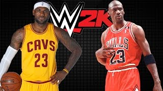 the battle for goat lebron james vs michael jordan wwe2k15