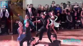 Part 6 Approach the Bar with Dancebeat! NYDF 2018 Pro Latin! Andrei Kazlouski and Asta Sigvaldadadot