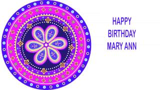 MaryAnn   Indian Designs - Happy Birthday