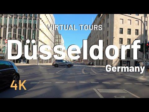DUSSELDORF driving virtual tour 🇩🇪 Germany 4K Video Tour