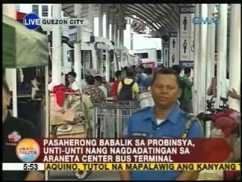 UB: Pasaherong babalik sa probinsya, unti-unti nang nagdadatingan sa Araneta Center Bus Terminal
