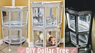 New Diy Dollar Tree Curio Cabinet W/ Lights   Diy Home Decor   Dollar Tree Furniture   Wall Decor
