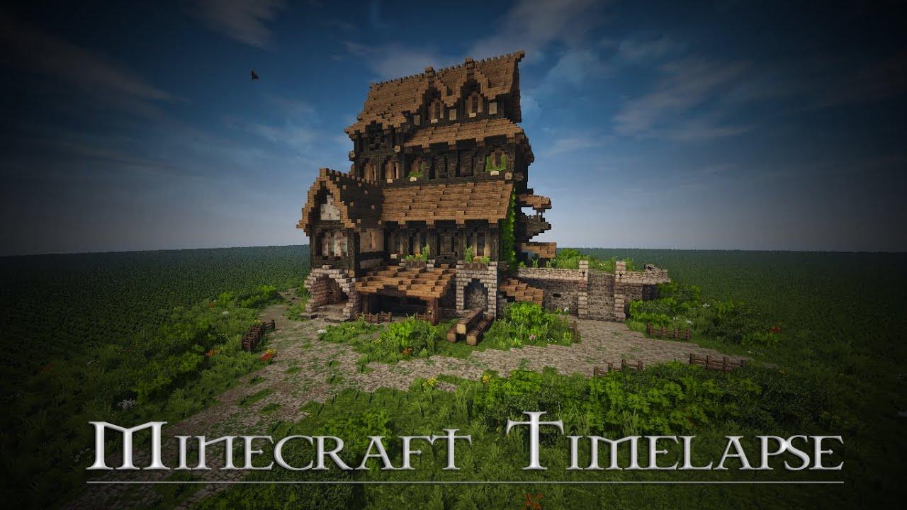 Boitameu minecraft timelapse medieval house skyrim for House inspiration