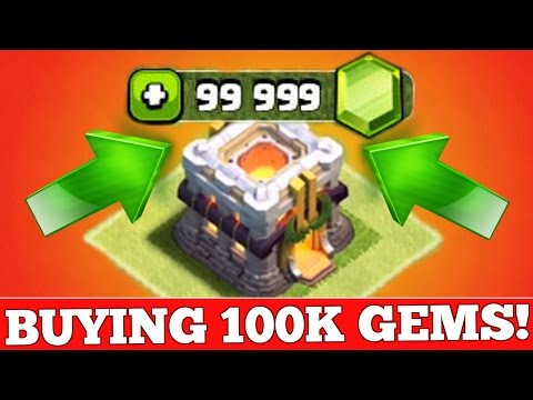 Clash Of Clans : BUYING 100,000 GEMS ($600+)!!!! JOURNEY TO TOWN HALL 11!