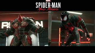 Miles and Tinkerer vs Roxxon Rhino with Miles Morales 2020 Suit - Marvel's Spider-Man Miles Morales