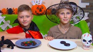 ЧЕЛЛЕНДЖ ОБЫЧНАЯ ЕДА ПРОТИВ ХЕЛЛОУИН ЕДЫ! Halloween Food vs REAL FOOD