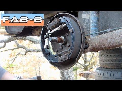 Comment démonter et remplacer les mâchoires de freins à tambours (sur R19 dT)