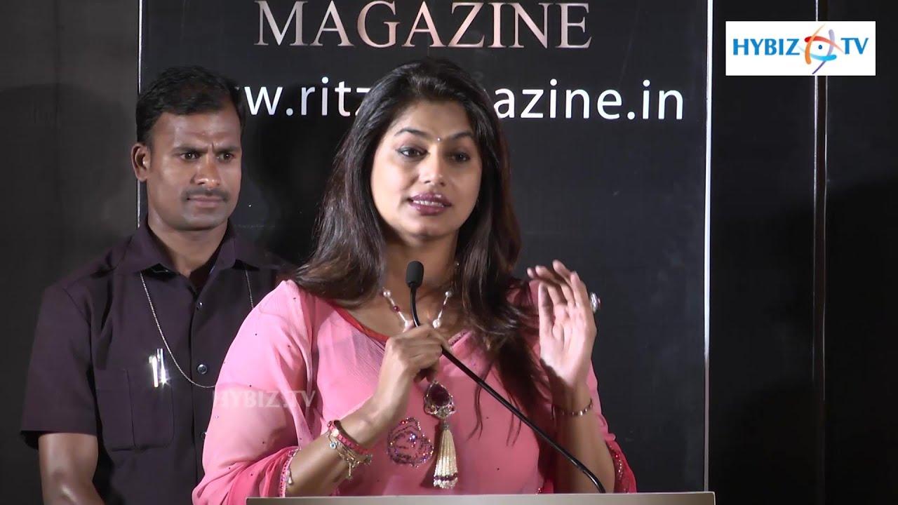 Pinky Reddy Philanthropist Telangana Edition of Ritz Magazine - Hybiz.tv