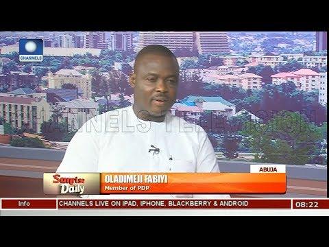 APC Lacks The Capacity To Fix Nigeria - Oladimeji Fabiyi Pt 1 | Sunrise Daily |