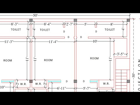 30 × 50 Latest house plan for rent purpose