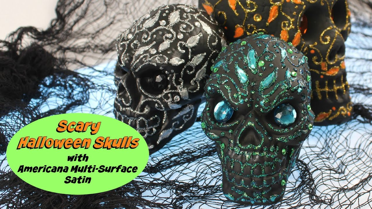 How To Decorate Halloween Skulls Youtube