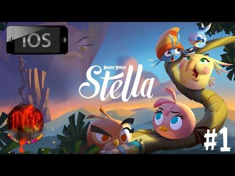[iOS] Angry Birds Stella прохождение - Серия 1 [Эпизод 1: Уровни 1-11 + Стена свиней 1]