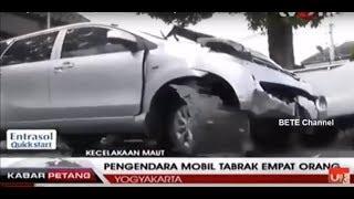 Kronologi Lengkap Mobil Nubruk 4 orang Di Tugu Yogyakarta