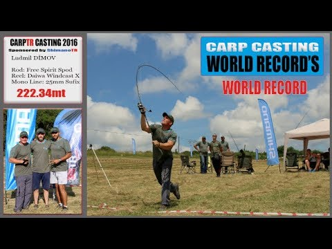 Carp Casting World Record - 222.34mt