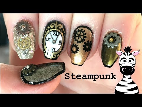 Steampunk Nail Art Tutorial With Amovee Nail Lamp Very Chrome