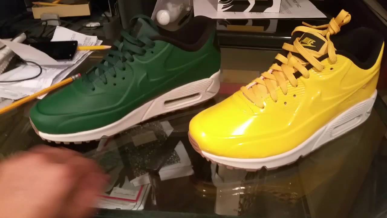 nike air max 90 green and yellow