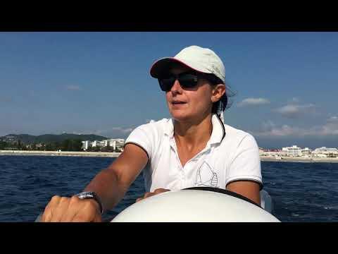 Яхтинг в Сочи - тренировка в открытом море