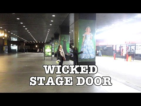 WICKED STAGE DOOR (NEW-ish CAST) (Vlog 220) (11/12/15)