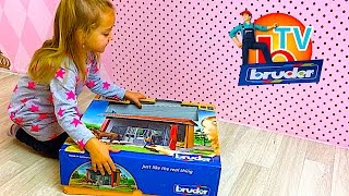 Bruder toys new building B-World  - unboxing