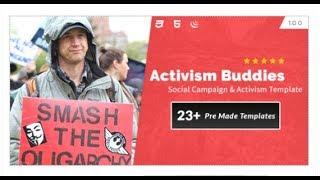 Activism Buddies - Social Campaign & Non Profit HTML5 Template   Themeforest Templates