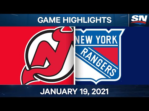 NHL Game Highlights | Devils vs. Rangers - Jan. 19, 2021