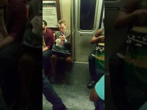 Celeb TrumpVoter David Bowe Bro Wants Blacks to Go Back to Africa a NYC Subway Train Fight 2017 New