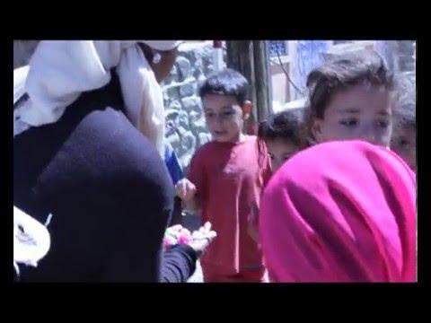 Feeding Morocco's poor in Atlas Mountains.