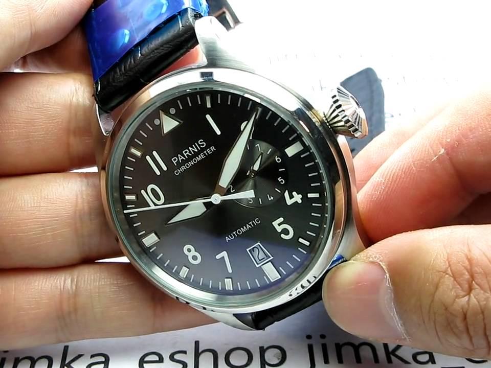 Parnis Big Pilot Automatic 47mm Xl Power Reserve Watch