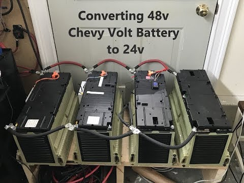 48v 50ah Chevy Volt Battery converted to 24v 100ah (For solar setup)