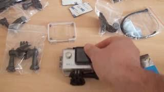 """Une caméra """"4K""""  étanche d'excellente qualité et un pack d'accessoires ultra complet"""