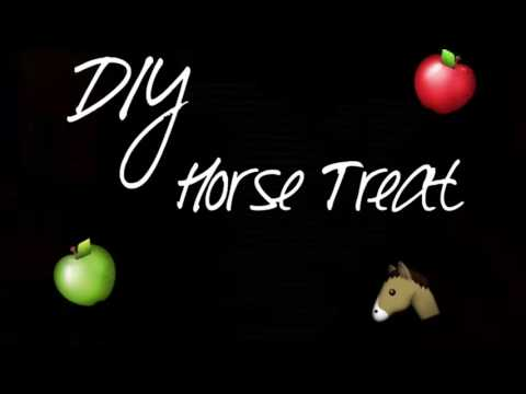 DIY No-cook Horse Treats
