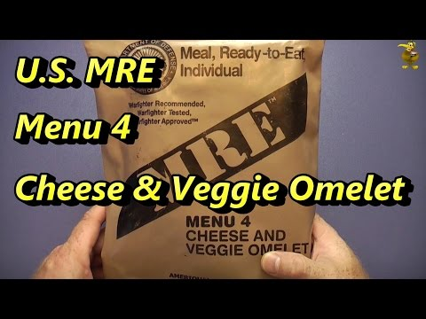 MRE Review - Menu 4 - Cheese & Veggie Omelet (2008)