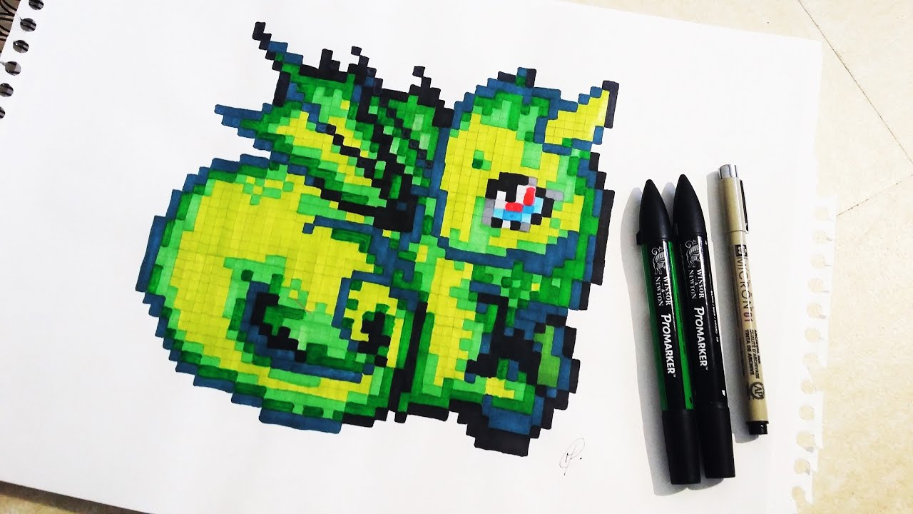 Cute Baby Dragon Drawing Pixel Art
