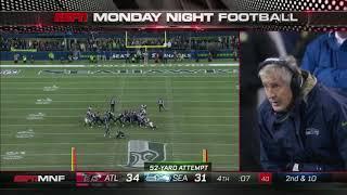 Blair Walsh Misses Game Tying Kick Against Falcons 11/20/17