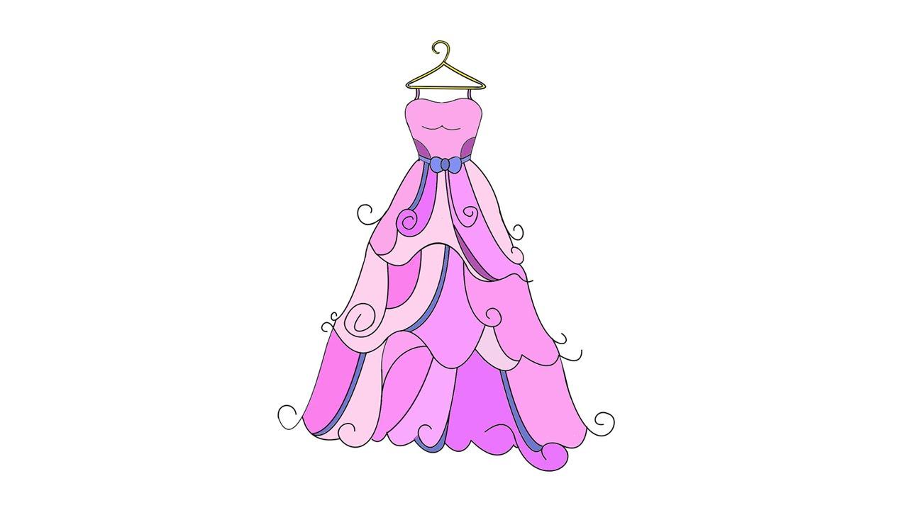Рисовать бальные платья