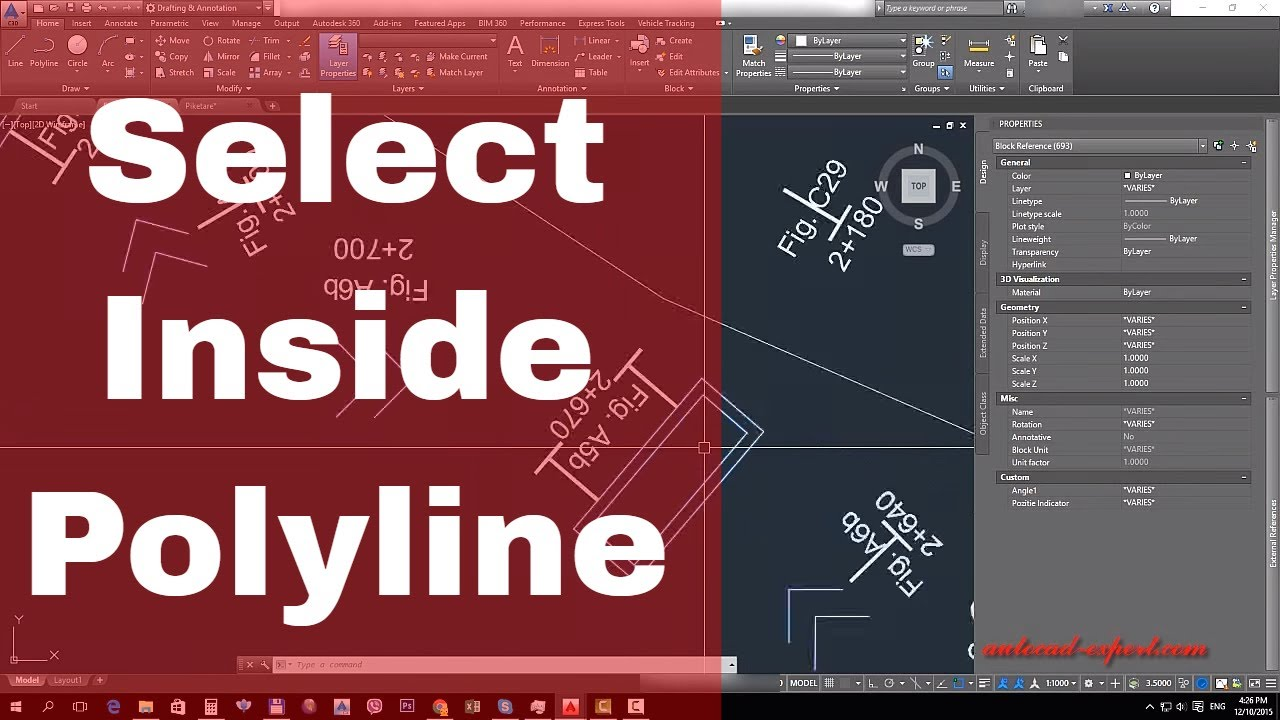 How to Select Objects Within a Polygonal Area in autocad ...