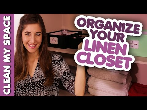 How To Organize Your Linen Closet! Clean My Space